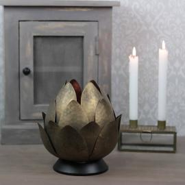 Lanterne Vandlilje 26x22cm - antik messing , hemmetshjarta.dk