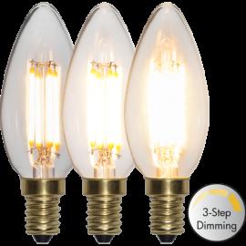 LED-Pære E14 Soft Glow C35 Dim 3-step , hemmetshjarta.dk