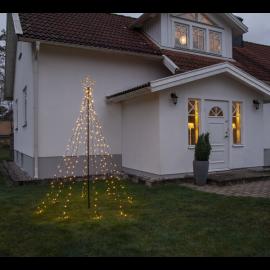 Udendørs dekoration Gran med stjerne 235 cm , hemmetshjarta.dk