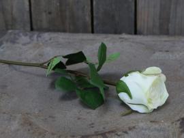 Fleur Rose H40 cm hvid , hemmetshjarta.dk