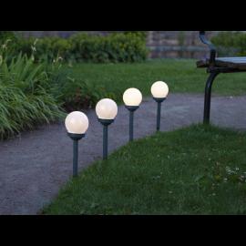 Solcellelampe stolpe Globus 4-pack , hemmetshjarta.dk