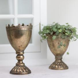 krukke Krone 18,5 cm - guld brun , hemmetshjarta.dk
