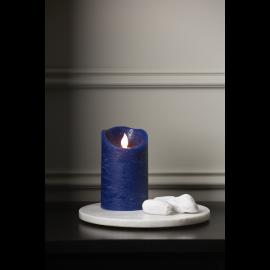 Batteridrevet Bloklys LED M-Twinkle Blå 7,5x12,5cm , hemmetshjarta.dk