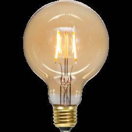 LED-Pære E27 Plain Amber G95 , hemmetshjarta.dk