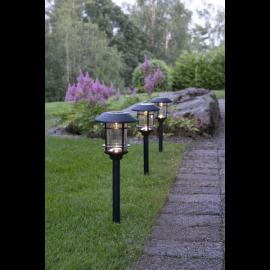 Solcellelampe stolpe Fride 3-pack , hemmetshjarta.dk