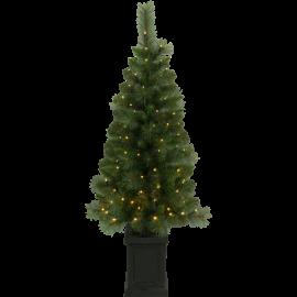 Juletræ med LED Hytte EL Udendørs Varm Hvid 90 Lys 50x120cm , hemmetshjarta.dk