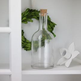 Glasflaske Klar 400ml 8x18cm , hemmetshjarta.dk