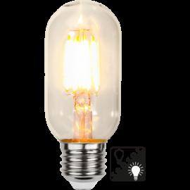 LED-Pære E27 Sensor clear T45 , hemmetshjarta.dk