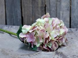 Kunstig Hortensia m. blade H52 cm rosa , hemmetshjarta.dk