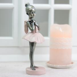 Ballerina stående - Støvet rosa , hemmetshjarta.dk