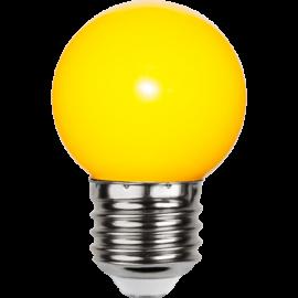 LED-Pære E27 Outdoor Lighting G45 Gul , hemmetshjarta.dk