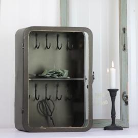 Nøgleskab 40 cm - antik messing , hemmetshjarta.dk