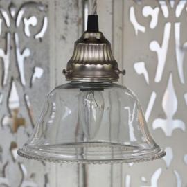 Lampe med perleglas håndlavet Ø17 cm , hemmetshjarta.dk