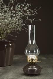 Uge 44 Lampe/fyrfadlys Ariana Emalj Choco 10x27cm , hemmetshjarta.dk