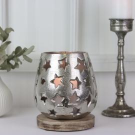 Lanterne Stemning 18 cm - sølv , hemmetshjarta.dk