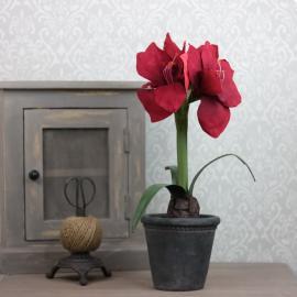 Kunstig Amaryllis 45 cm , hemmetshjarta.dk