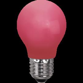 LED-Pære E27 Outdoor Lighting A55 Rød , hemmetshjarta.dk