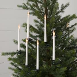 Juletræsbelysning Hvid SlimLine 16 18cm , hemmetshjarta.dk