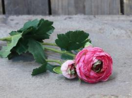 Fleur Ranunkel H55/L14/B8 cm pink , hemmetshjarta.dk