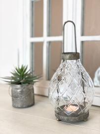 Lanterne/Glas Lyric 12x16/26cm , hemmetshjarta.dk