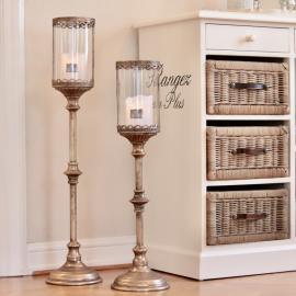 Lanterne på stativ Antik 81 cm - gullbrun , hemmetshjarta.dk