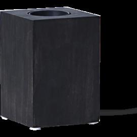 Lampeholder E27 Cube Sort 7x10 , hemmetshjarta.dk