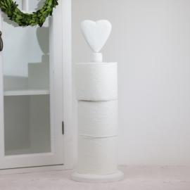 Toiletpapirholder Hjerte - hvid , hemmetshjarta.dk