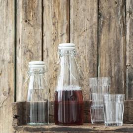 Flaske m/hvidt patentlåg 500 ml , hemmetshjarta.dk
