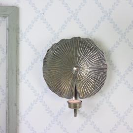 Lysestage / Væg Fyrfadslys 28 cm - antik messing , hemmetshjarta.dk