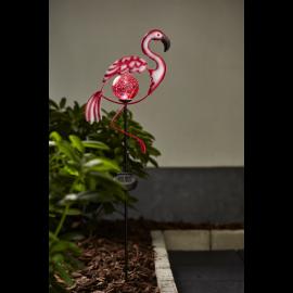 Solcelledekoration Flamingo , hemmetshjarta.dk
