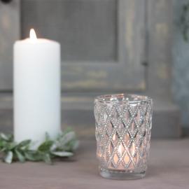 Lanterne 9 cm - sølv , hemmetshjarta.dk