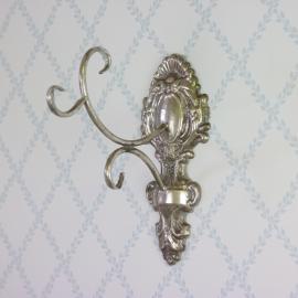 Vægkrok CHANTAL - antik sølv , hemmetshjarta.dk