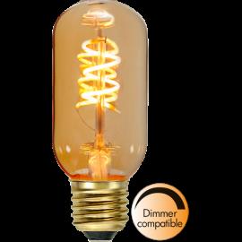 LED-Pære E27 Decoled Spiral Amber T45 Dim , hemmetshjarta.dk