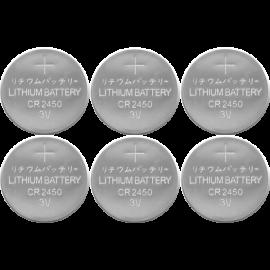 Batteri CR2450 6-pack , hemmetshjarta.dk