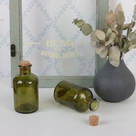 Glasflaske grønn 150ml 5,7x10,3cm , hemmetshjarta.dk