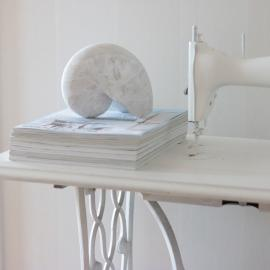 Shell 17x12x8 cm - Antik hvid , hemmetshjarta.dk