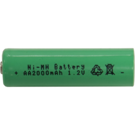 Genopladeligt batteri AA 1,2V 2000 mAh Ni-MH , hemmetshjarta.dk