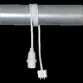 Lamphållar E14 Basic Hvid 1,5m DCL Takplugg , hemmetshjarta.dk