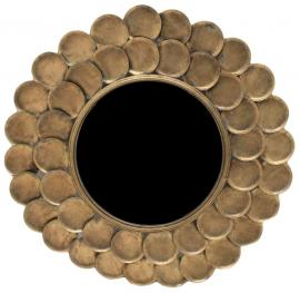 Spejl Rund 75 cm - Antik Messing , hemmetshjarta.dk