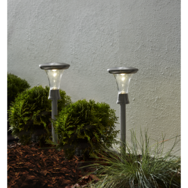 Solcellelampe stolpe Turin 2-pack , hemmetshjarta.dk