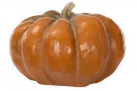 Græskar Orange.Nat Rund Poly 53x52x33cm , hemmetshjarta.dk