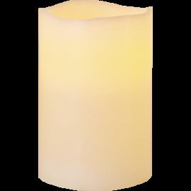 Batteridrevet Bloklys LED Big Elfenben 10x15cm , hemmetshjarta.dk