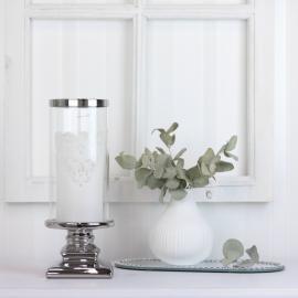 Lanterne med glas Luksus 10,5 x 28,5 cm , hemmetshjarta.dk