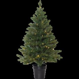 Juletræ med LED Byske Batteridriven Udendørs Varm Hvid 40 Lys 55x90cm , hemmetshjarta.dk
