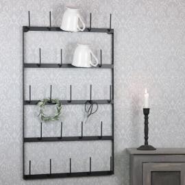 Kop / rulleholder væg sort 44x5x77cm , hemmetshjarta.dk