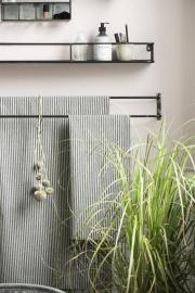 Håndklædestang t/væg 2 stænger 80,5 cm , hemmetshjarta.dk