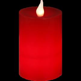 Batteridrevet Bloklys LED Flame Rød 8x12cm , hemmetshjarta.dk