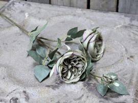 Uge 40 Fleur Rose L75 cm støvet grøn , hemmetshjarta.dk