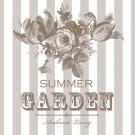 Servietter - Summer garden - beige , hemmetshjarta.dk