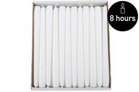 Kronelys Hvid H25/2,3cm 48st , hemmetshjarta.dk